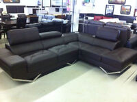 clearance--Brand new modern sectional leather sofa $688up