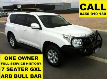 2015 Toyota Landcruiser Prado KDJ150R MY14 GXL (4x4) Glacier White 5 Speed Sequential Auto Wagon Ellenbrook Swan Area Preview