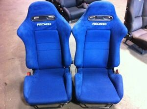 JDM ACURA RSX BLUE RECARO DC5 FRONT SEATS FOR SALE