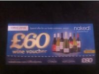 60.00 wine voucher can use online