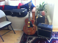 Samick HJ650 Electric Jazz Guitar + Amp