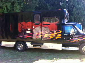 1988 Ford Cube Van converted to Motorhome with Race Trailer