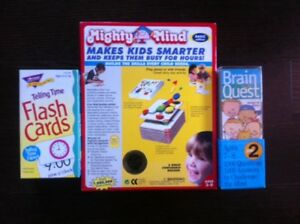 Educational items, telling time, phonics sets, $2-10