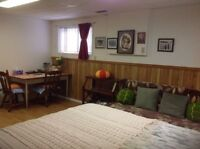 A furnished indepedent-entry basement suite available