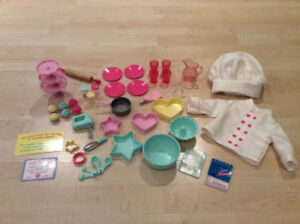 """OUR GENERATION 18"""" DOLL BAKING SET AMERICAN GIRL"""