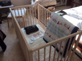 cot and bedding
