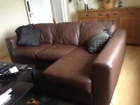 All leather corner suite - best offer