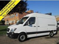 2015 64 MERCEDES-BENZ SPRINTER 2.1 313CDI MWB HIGH ROOF. VERY LOW 38,000 MILES.