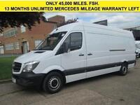 2015 15 MERCEDES SPRINTER 2.1 313CDI LWB HIGH ROOF. FACELIFT MODEL ONLY 45K. FSH