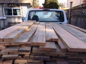 SelectNumber 1 CLEAR WesternMaple 1.5 inch KILN DRIED PLANED