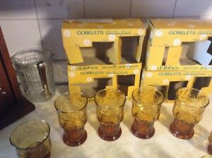 VINTAGE COUNTRY GARDEN.VTG RUSTIC TUMBLERS IN 3 SIZES BY LIBBEY. Gatineau Ottawa / Gatineau Area image 5