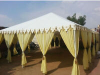 FOR SALE : 10m x 6m rigid clear span Maharajah style marquee tent.