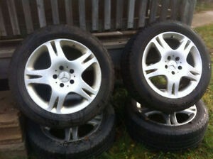 4 Genuine Mercedes Pirelli Winter Tires 225/55 R17