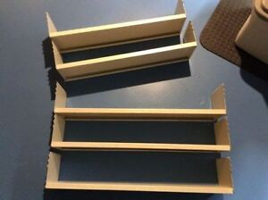 Metal track shelving