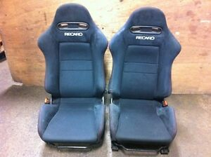 JDM HONDA ACURA RSX DC5 OEM BLACK RECARO PAIR SEATS FOR SALE