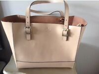 Ladies Large Nude Leather Tote Bag BRAND NEW