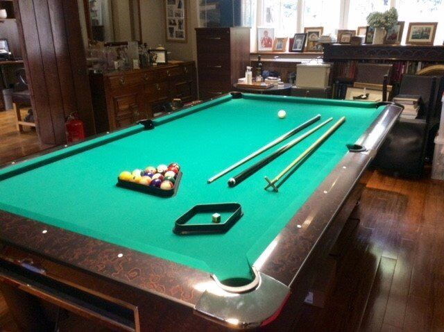 Sam K Steel 9ft American Pool Table Good Condition
