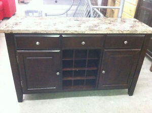 spanish style faux marble top buffett -delivery available