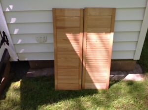 """New Interior Pine Window Louvers size is 24""""  x 36"""""""