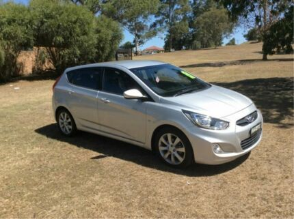 2011 Hyundai Accent RB Premium Silver 5 Speed Manual Hatchback East Maitland Maitland Area Preview