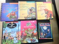 3 French Usborne books (hard cover) and 3 comic books (hardcover