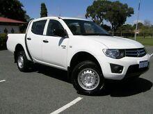 2009 Mitsubishi Triton GLX White 5 Speed Manual Dual Cab Gosnells Gosnells Area Preview