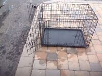 Metal collapsible dog crate
