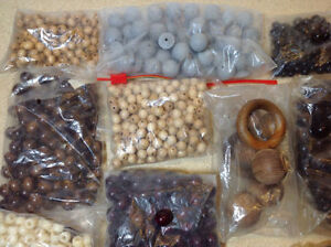 Wood beads for necklaces & crafts Cambridge Kitchener Area image 2