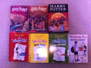 Harry Potter and Diary of a Wimpy Kid Novels
