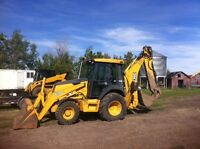 For Rent  Skidsteer & Backhoe