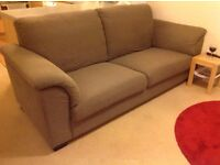 3 year old IKEA 3 seater Tidafors sofa in dansbo medium brown (bought new for £425)