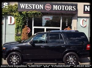 2010 Ford Expedition LIMITED* 4X4* NAVI* LEATHER* DVD* 8 PASS*