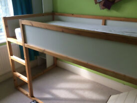 Free - mid-sleeper child's bed: adjusted for stair bulkhead