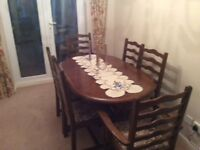 Excellent condition g plan table and 6 chairs £100