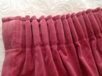 2 PAIRS OF VELVET CURTAINS IN EXCELLENT CONDITION