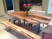 LIVE EDGE SLABS, RECLAIMED LUMBER, LIVE EDGE COFFEE TABLES.