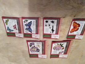 6 x Cherry Green Designs Craft Stamps