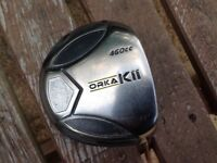Orka Golf Driver and Ping G10 Rescue club with head covers