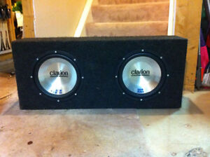 """2 x  10"""" Clairon Subwoofers with Carpeted Box"""