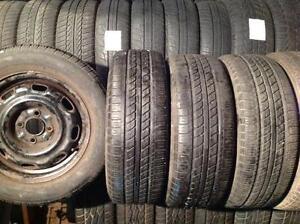 4 pneus d'été  195/60 r14 sur rime geostar nst.  135$