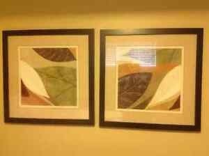 Beautiful fall leaves framed art pieces