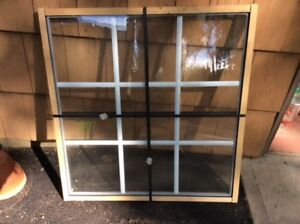 Sealed Window, 27 3/16 x 28 5/8, low E with Muntin Bars