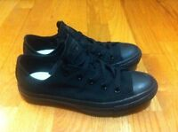 NEW Converse Authentic ALL BLACK lowtop