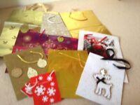 Set of 9 Christmas Gift Bags