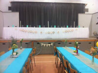 Wedding Tablecloths for Sale! Turquoise & White Available