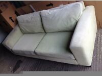 2 seater pale green settee
