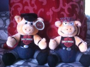 Harley-Davidson Collectors Pigs - Original Tags and Outfits