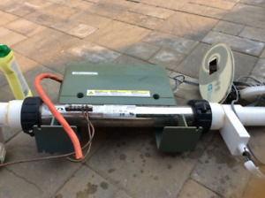 Hot tub/pool heater, pump and accessories