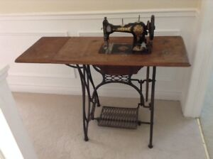 Unique treadle sewing machine