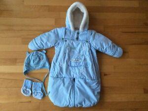 Ensemble d'hiver pour bébé, tuque + chaussettes
